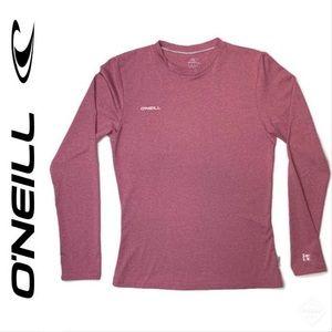 O'Neill Women's 24/7 Hybrid Sun Tee Mist Red Sz S
